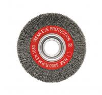 Escovas circulares,  arame ondulado